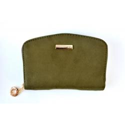 Πορτοφόλι σουέτ με φερμουάρ